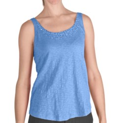Nomadic Traders Sequin Tank Top - Cotton, Scoop Neck (For Women)