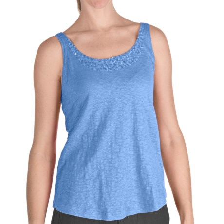 Nomadic Traders Sequin Tank Top - Cotton, Scoop Neck (For Women)