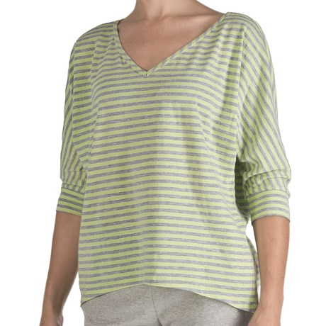 Nomadic Traders Heather Stripe Shirt - 3/4 Sleeve  (For Women)