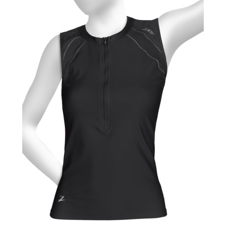 Zoot Sports High-Performance Tri Top - Zip Neck, UPF 50+, Sleeveless (For Women)