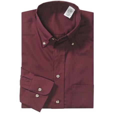 Easy Care Poplin Sport Shirt - Long Sleeve (For Men)
