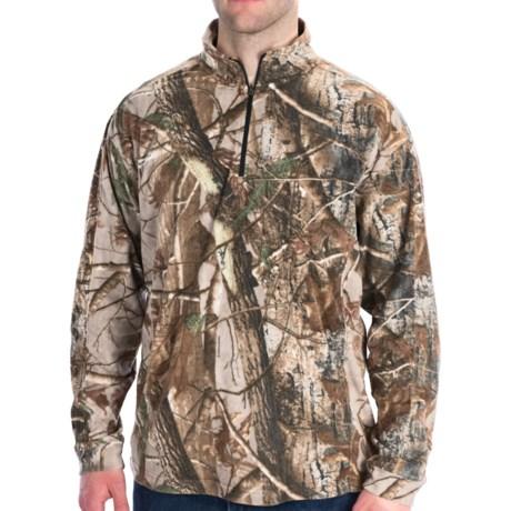 Dri Duck Camo Fleece Shirt - UPF 50, Zip Neck, Long Sleeve (For Men)