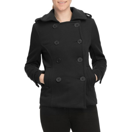 Pulp Double-Breasted Pea Coat (For Women)