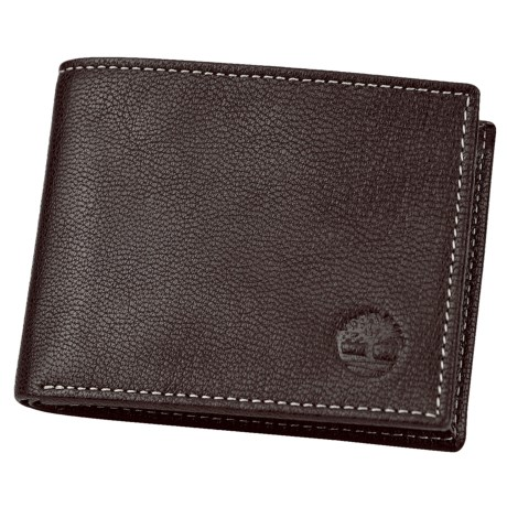 Timberland Antiqued Leather Slimfold Wallet