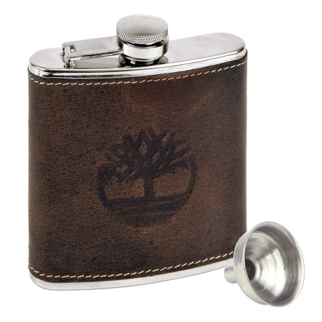 Timberland Leather-Covered Flask and Funnel Set