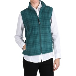 Woolrich Andes Printed Fleece Vest - UPF 40, Full Zip (For Women)
