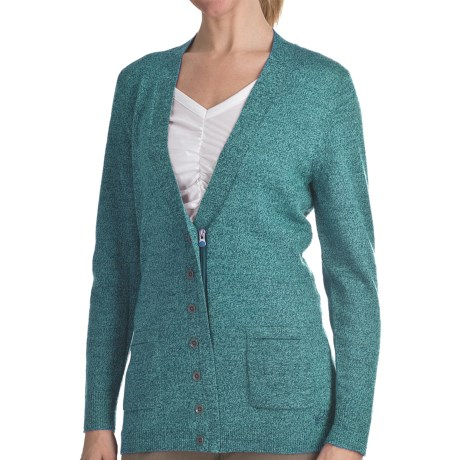Woolrich Trailblazer Zip Front Cardigan Sweater - Merino Wool (For Women)