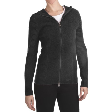 Woolrich Navigator Hooded Cardigan Sweater - Overwashed Merino Wool (For Women)