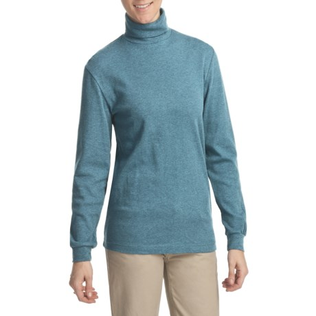 Woolrich Heathered Turtleneck - Interlock Cotton, Long Sleeve (For Women)