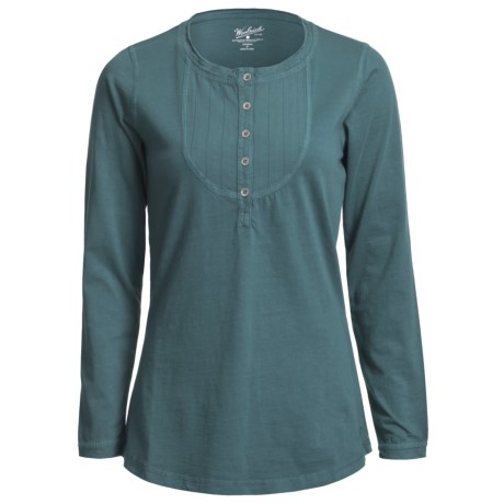 Woolrich First Fork Bib Henley Shirt - Cotton Jersey, Long Sleeve (For Women)