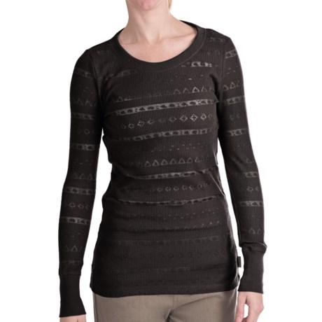 Woolrich River Birch Thermal T-Shirt - Burnout, Long Sleeve (For Women)