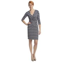 Laundry by Design Matte Jersey Garden Gate Dress - 3/4 Sleeve (For Women)
