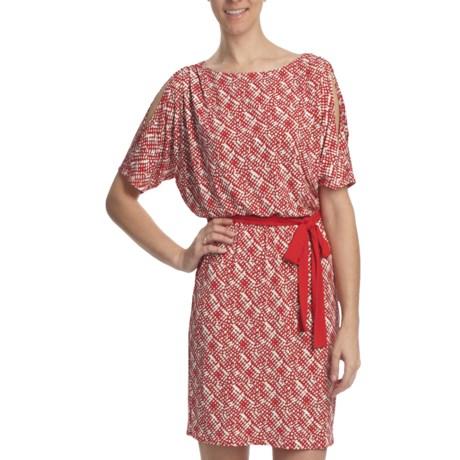 Laundry by Design Cold Shoulder Dolman Dress - Matte Jersey, Short Sleeve (For Women)
