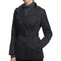 Ellen Tracy Outerwear Belted Mini Trench Coat (For Women)