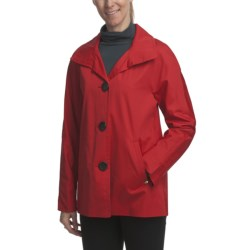 Ellen Tracy Outerwear Signature Rain Kimono Coat (For Plus Size Women)