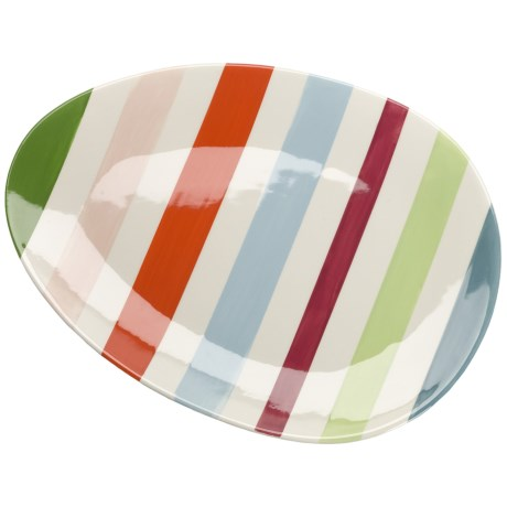 Tag Easter Stripe Oval Platter