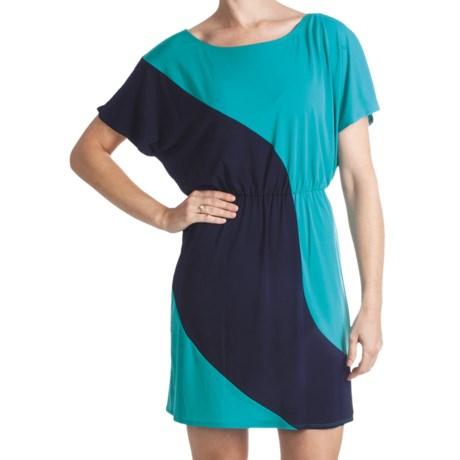 Laundry by Design Matte Jersey Color-Block Dress - Short Sleeve (For Women)