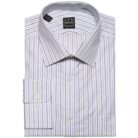 Ike Behar Black Label Rope Stripe Dress Shirt - Long Sleeve (For Men)