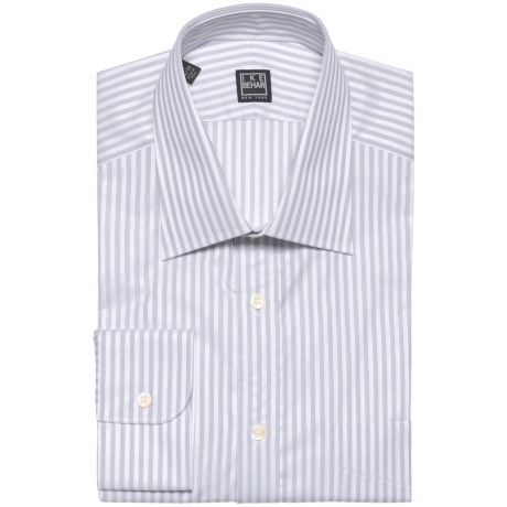 Ike Behar Black Label Stripe Spread Collar Dress Shirt - Long Sleeve (For Men)
