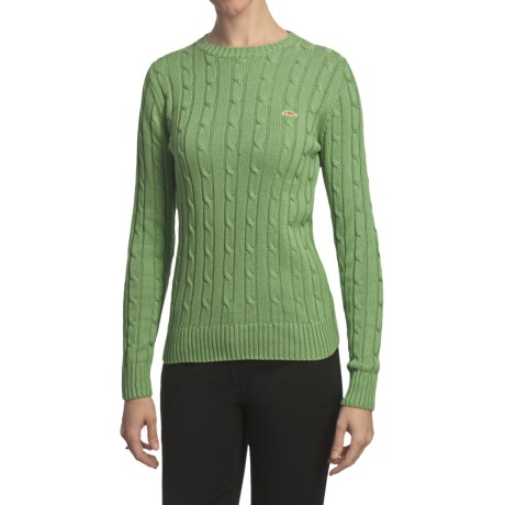 Salmon Cove Cotton Cable-Knit Sweater (For Women)