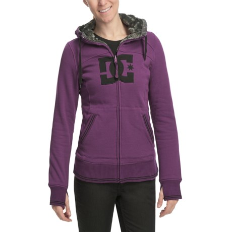 DC Shoes Felice Hoodie Sweatshirt - Reversible, Full Zip (For Women)