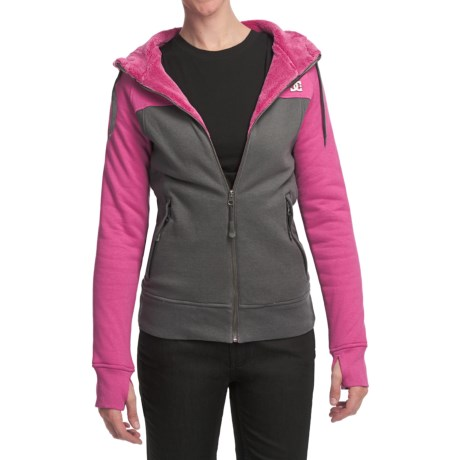 DC Shoes Hotaka Fleece Hoodie Sweatshirt - Full Zip (For Women)