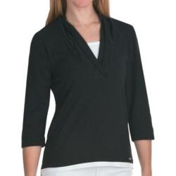 FDJ French Dressing Fooler Shirt - Shawl Collar, 3/4 Sleeve (For Women)