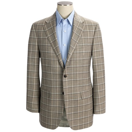 Hickey Freeman Windowpane Plaid Sport Coat - Worsted Wool (For Men)