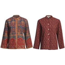 Orvis Reversible Print Jacket - Quilted Cotton (For Petite Women)