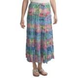 Orvis 15 Tier Skirt - Crinkle Cotton Voile (For Women)