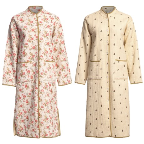Orvis Cotton Quilted Robe - Cotton, Reversible (For Women)