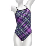 TYR Pacific Plaid Competition Swimsuit - 1-Piece, Diamondfit (For Women)