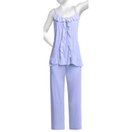 Oscar de la Renta Pink Label Luxe Knit Pajamas - Sleeveless (For Women)