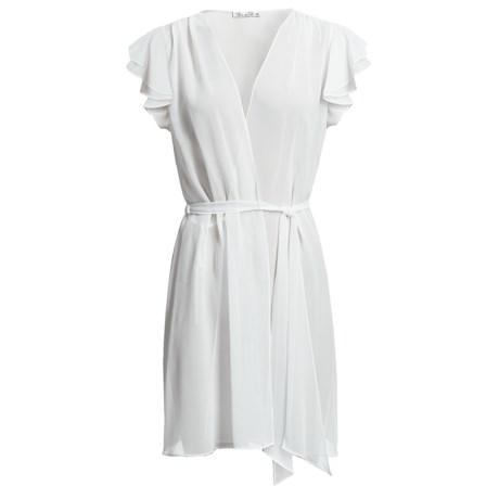 Oscar de la Renta Signature Simply Glamorous Wrap Robe - Short Sleeve (For Women)
