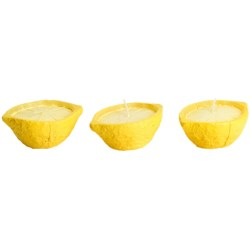 Tag Lemon Shaped Candle Set - Set of 3