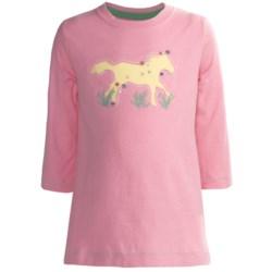 Hatley Running Horses Graphic T-Shirt - 3/4 Sleeve (For Girls)