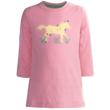 Hatley Running Horses Graphic T-Shirt - 3/4 Sleeve (For Girls)