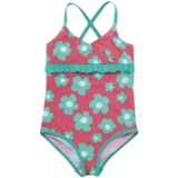 Hatley Blue Flowers Swimsuit - One-Piece (For Grils)