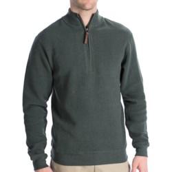 Woolrich Cotton Bromley Sweater - Zip Neck (For Men)