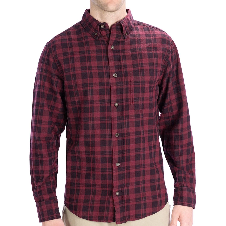 Woolrich high season flannel shirt for men 5432p for Men s lightweight flannel shirts