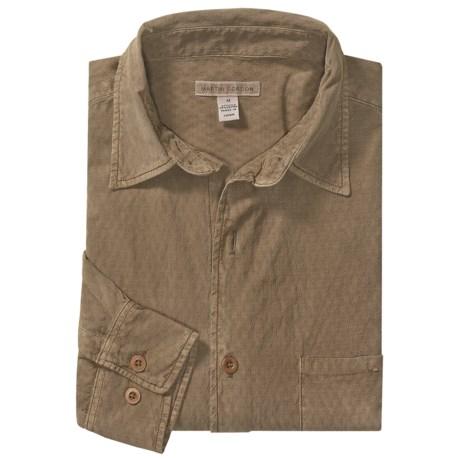 Martin Gordon Silk-Cotton Sport Shirt - Long Sleeve (For Men)