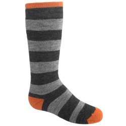 Lorpen Ski-Snowboard Midweight Socks - 2-Pack, Merino Wool, Over-the-Calf (For Kids and Youth)