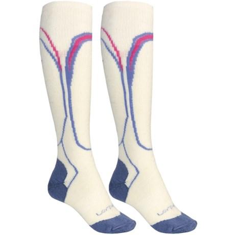 Lorpen Merino Wool Ski Socks - 2-Pack, Midweight, Over-the-Calf (For Women)