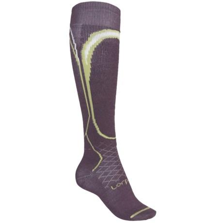 Lorpen Merino Wool Ski Socks - 2-Pack, Lightweight, Over-the-Calf (For Women)