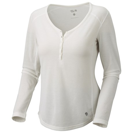 Mountain Hardwear Trekkin Thermal Henley Shirt - UPF 15, Long Sleeve (For Women)