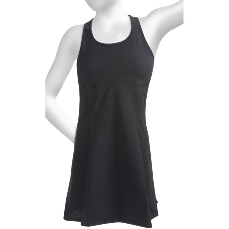 Skirt Sports Sexy Back Tank Dress - Built-In Sports Bra, Racerback, Sleeveless (For Women)