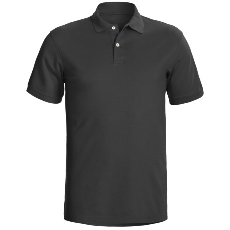 Specially made Knit Cotton Polo Shirt - Short Sleeve (For Tall Men)