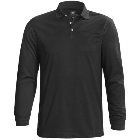 Wedge Golf Polo Shirt - Long Sleeve (For Men)
