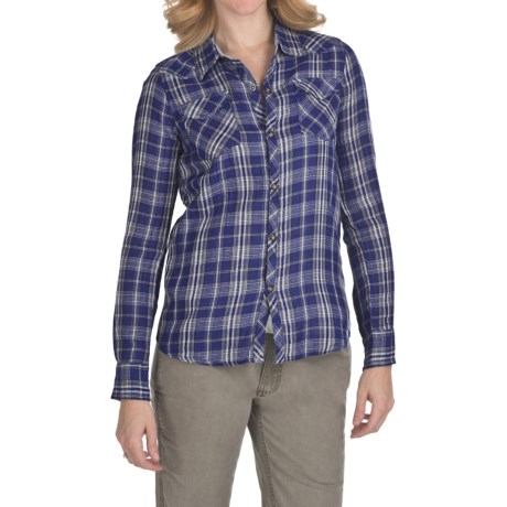 Gramicci Erdem Madeira Double-Layer Plaid Shirt - Long Sleeve (For Women)