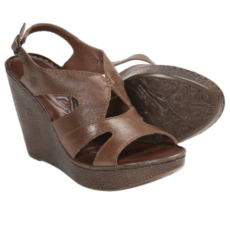 not comfortable born rhys wedge sandals for
